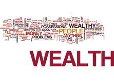 Attract The Wealth You Deserve Word Cloud Concept Stock Photography