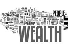 Attract The Wealth You Deserve Word Cloud Stock Photography