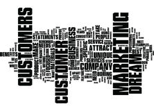 Attract Your Dream Customer Word Cloud Concept Stock Image