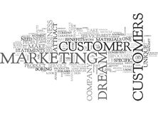 Attract Your Dream Customer Word Cloud Royalty Free Stock Images