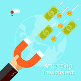 Attracting investments concept Stock Image