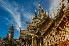 Attracting Pattaya The Santuary of truth Thailand. stock photo