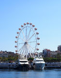Attraction and boats. Port of barcelona, Catalonia Royalty Free Stock Image