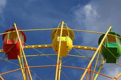 Attraction (Carousel) Ferris wheel Royalty Free Stock Image