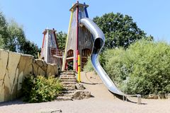 Attraction children`s slides Royalty Free Stock Image