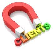 Attraction de clients Photo stock