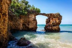 Attraction de Puente de Piedra Cabo Rojo Puerto Rico photographie stock libre de droits