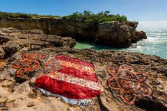 Attraction de Puente de Piedra Cabo Rojo Puerto Rico photos libres de droits