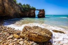 Attraction de Puente de Piedra Cabo Rojo Puerto Rico images libres de droits