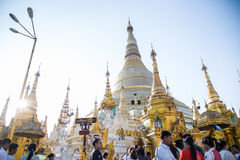 Attraction de voyage de Pagonda Myanmar Images stock
