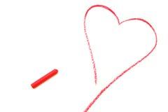 Attraction en pastel de coeur rouge Photos stock