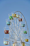 Attraction Ferris Wheel. On a background of blue sky Royalty Free Stock Photos