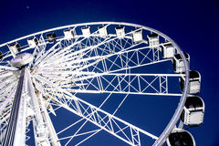 Attraction Ferris wheel. With blue sky Stock Photo