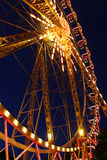 Attraction - a Ferris wheel at night. A Ferris wheel at night Royalty Free Stock Photography