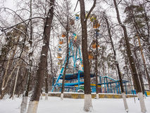 Attraction Ferris wheel in the snow Royalty Free Stock Photography