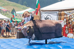 The attraction at the Festival of Rozhen in Bulgaria Royalty Free Stock Image