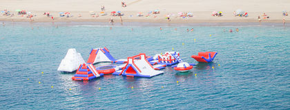 Attraction flottant en mer, AlmerÃa, Espagne Photos libres de droits