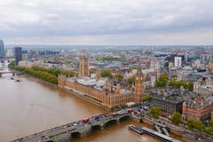 Attraction in London big Ben from a bird`s eye view royalty free stock photos