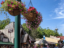 Attraction on Main Street in Gatlinburg a holiday resort in Tennessee USA Stock Photos