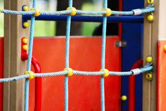 Attraction maze sport on the street, in the park Royalty Free Stock Photography
