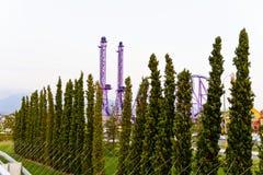 Attraction moderne en parc olympique Photos libres de droits