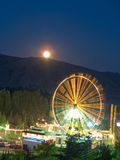 Attraction at night. Attraction and Moon in night Royalty Free Stock Photos