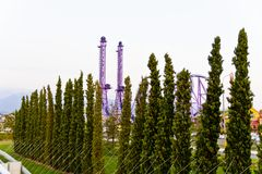 Modern attraction in Olympic park Royalty Free Stock Photos