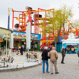 Attraction situated inside of the Prater amusement Stock Photos