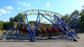 Attraction small roller-coaster stock footage