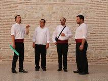 Attraction touristique dans la fente, Croatie/chant de Klapa Images libres de droits