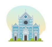 Attraction touristique, grande église franciscaine de basilique de Santa Croce Image libre de droits