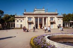 Attraction touristique populaire de ville de Varsovie, palais de Lazienki Photos stock