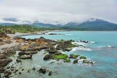 Attraction touristique scénique de San Xian Tai dans Taiwan images libres de droits