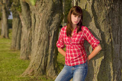 Attraction young woman Royalty Free Stock Photography