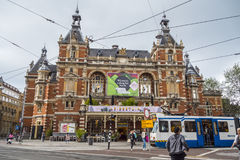 Attractions in Amsterdam - The City Theater at Leidse Square - AMSTERDAM - THE NETHERLANDS - JULY 20, 2017 Royalty Free Stock Photography
