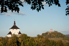 Attractions of Banska Stiavnica, Slovakia Royalty Free Stock Photo