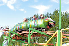 Attractions. For children, amusement park, St. Petersburg, Russia Stock Photography