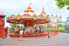 Attractions for children in popular Russian theme Park Stock Photography