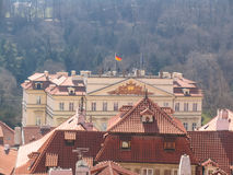 Attractions of city Prague. Statues and monuments. Historical Buildings Royalty Free Stock Photo