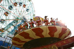 Attractions in Coney Island's Luna Park. New York Stock Images