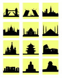 Attractions countries icon Stock Photo