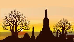 Attractions, culture et religion de la Thaïlande illustration libre de droits