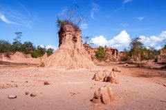 Attractions eroded sandstone pillars or columns and cliffs at Sao Din Na Noi, sri nan national park, Nan province Stock Images