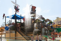 Attractions at Illa Fantasia  Water Park Stock Image