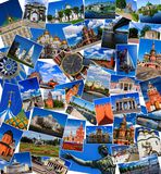 Attractions of Moscow, Russia (collage) Stock Photo