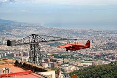 Attractions on mountain Tibidabo Stock Images