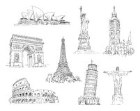 Attractions Of The World Royalty Free Stock Images