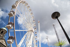 Attractions park on Dam Square (Royal Square) of Amsterdam Royalty Free Stock Image