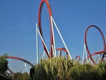 Attractions in park Port Aventura Spain Royalty Free Stock Image