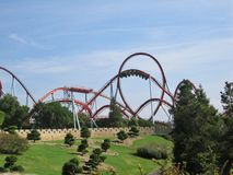 Attractions in park Port Aventura Spain Royalty Free Stock Photo